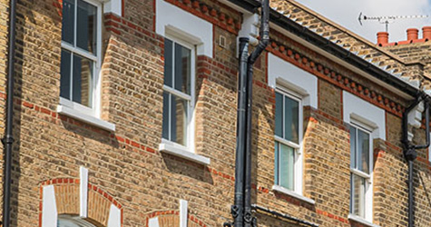 A row of terraced housing.