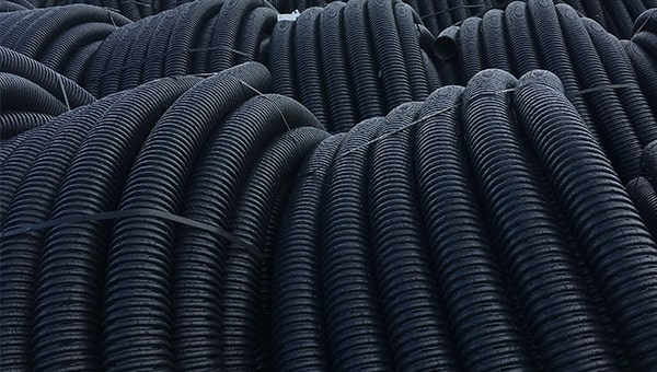 Coils of black land drainage.