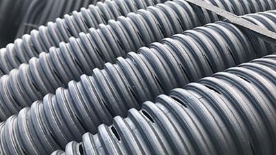 Land drain coils.