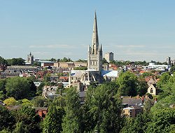 Norwich on a sunny day