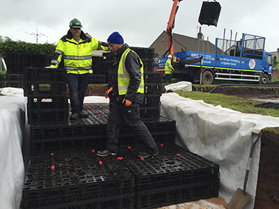 Rainbox 3S crates being installed at Egremont, Cumbria