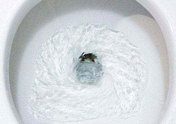 Money going down the drain-literally!