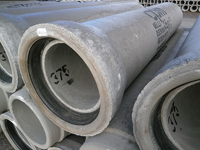 Concrete pipes.