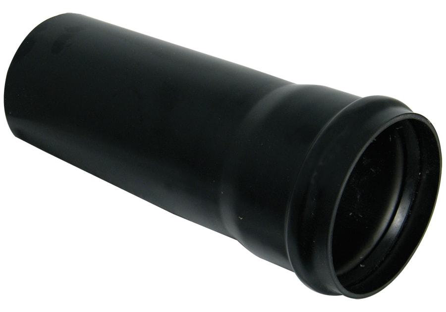 A length of black soil pipe.