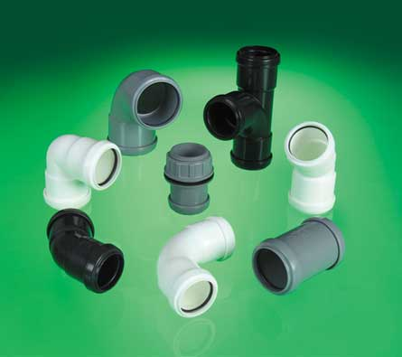 A collection of push fit waste fittings.