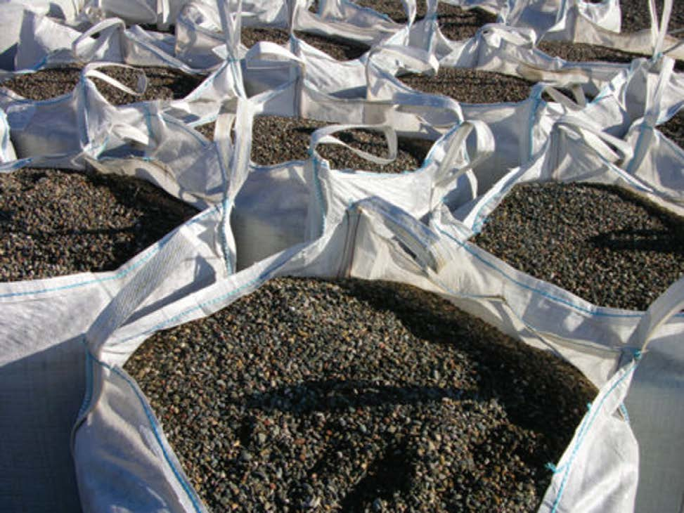 Aggregates in bulk bag