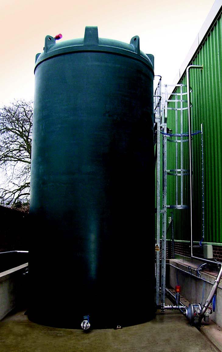 A 10,000 litre bulk liquid storage tank.