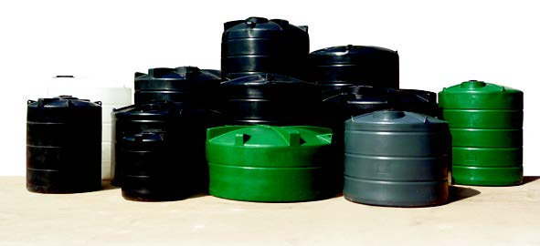 A complete collection of water storage tanks.