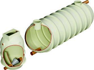 V2 GRP attenuation tank - vortex control.