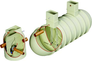 V3 GRP attenuation tank - offline system.