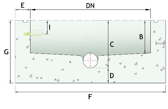 Tongue/groove joint dimensional cross section.