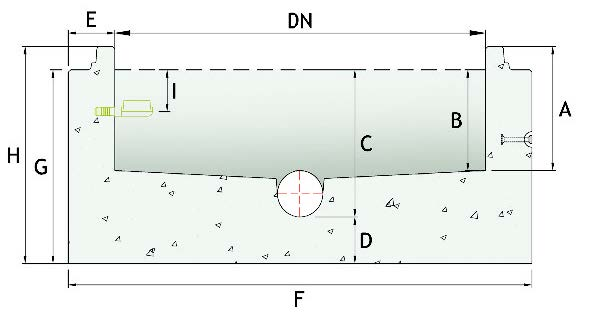 Watertight joint dimensional cross section.
