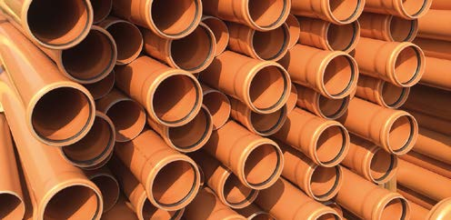Bundle of ULTRA3 sewer pipe.