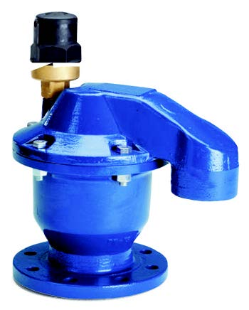 Double orifice cast iron air relief valve.