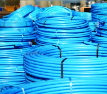 Coils of Blue MDPE